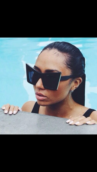 cat eye sunglasses matte pointy metal edge square cat-eye sunglasses rectangular cat eye large cat eye sunglasses