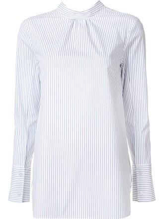 blouse back slit white top