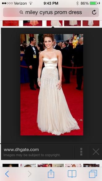 dress miley cyrus prom dress