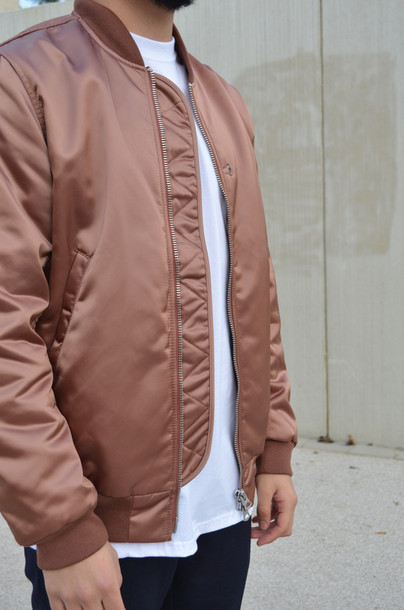 jacket bronze dopeaf bomber jacket tumblr