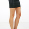 Seam detail pleather mini skirt