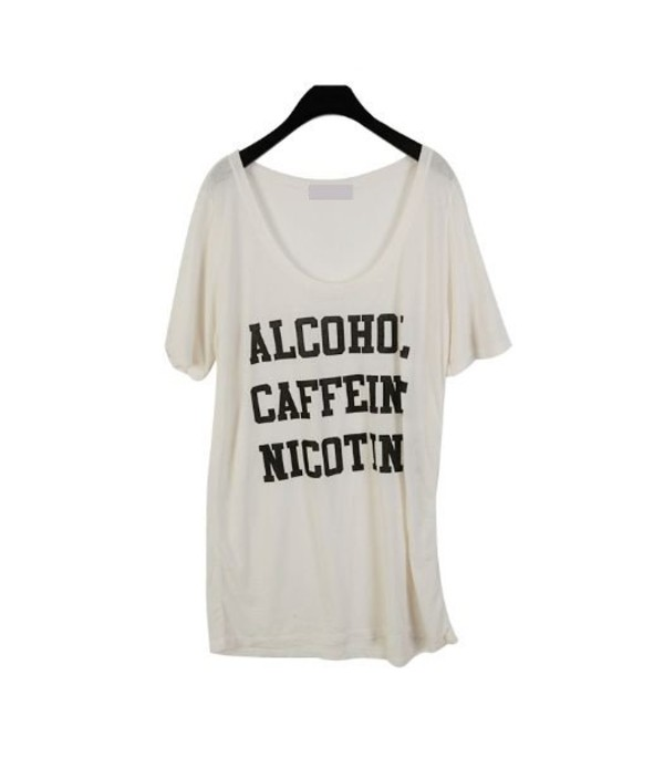 shirt nicotine caffeine grunge alcohol