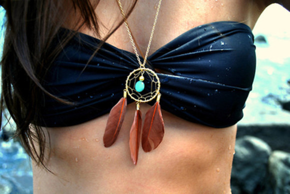 jewels dream catcher necklace dreamcatcher swimwear bikini