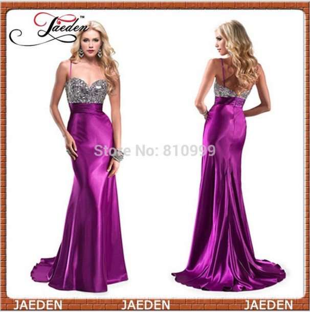 Purple Sexy Prom Dress