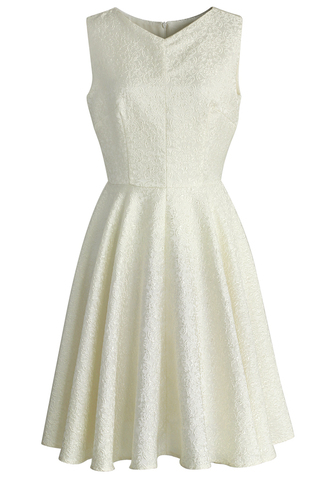 dress chicwish embossed dress ivory dress chicwish.com