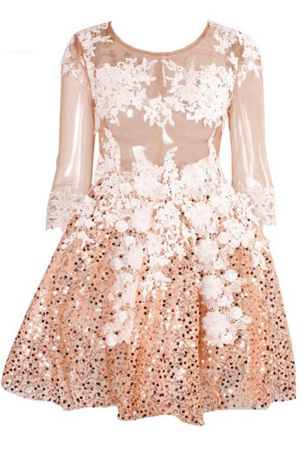 Lace Premium Sequin Skater Dress