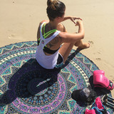 Indian Round Mandala Beach Throw Hippie Yoga Mat Towel Tassle Picnic Roundie