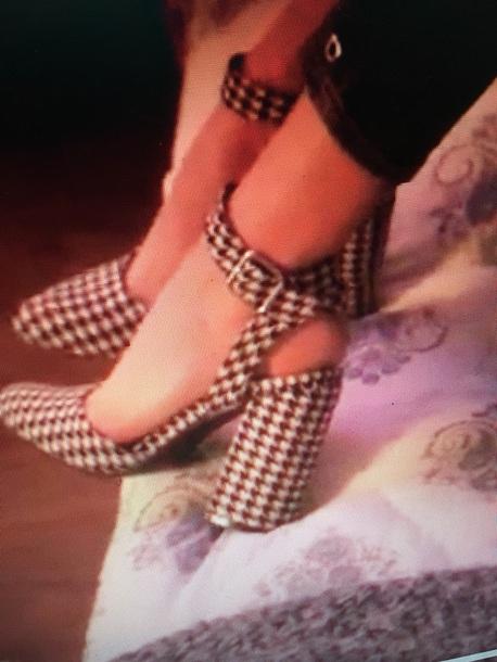 shoes annie leblanc black and white heels