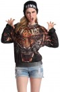 ROMWE | ROMWE Tiger Head Print Long-sleeved Sweatshirt, The Latest Street Fashion