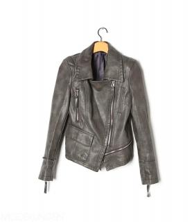 Leather jacket - Zip - Leather jackets - Jackets & Outerwear - Women - Modekungen