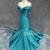 Unique sweetheart mermaid long green prom dress, evening dress - 24prom