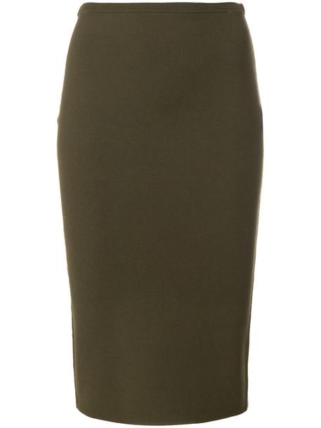 skirt pencil skirt women green
