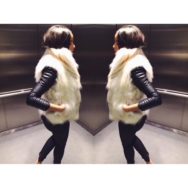 jacket fur faux fur jacket faux fur faux fur vest vest coat