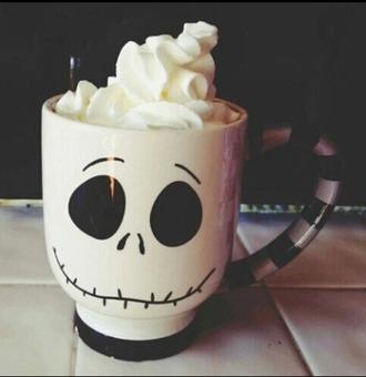 home accessory mug jack skellington skull tim burton burton halloween disney walt disney cup tea mug cup tea coffee squelette squeleton