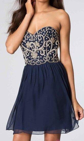 dress short dress embroidered
