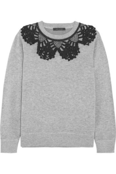 Marc Jacobs sweatshirt cotton crochet sweater