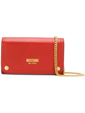 metal women bag crossbody bag red