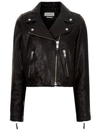 jacket cropped jacket cropped leather black black leather