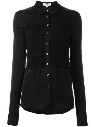 shirt women classic spandex black silk top