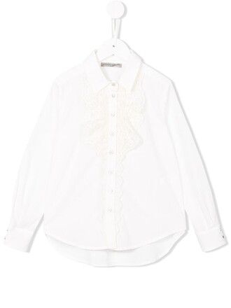 shirt girl toddler lace white top