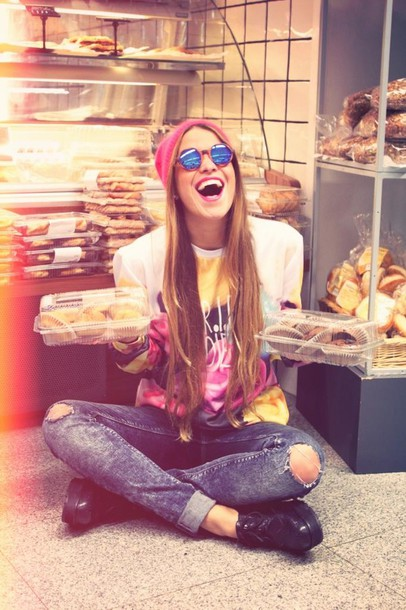 drifting nomad sweater jeans sunglasses