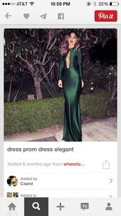 forest green,silk,long prom dress,dress
