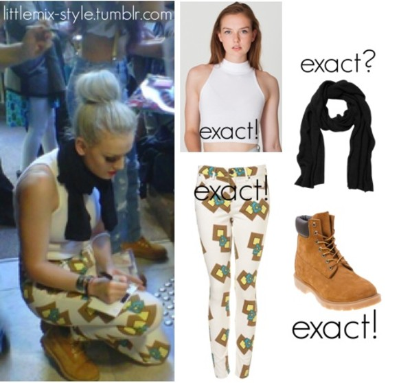 pants perrie edwards diamond square patterned bottoms little mix shoes