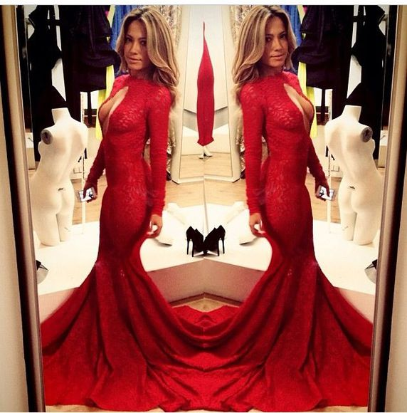 dress red lace michael costello red lace dress