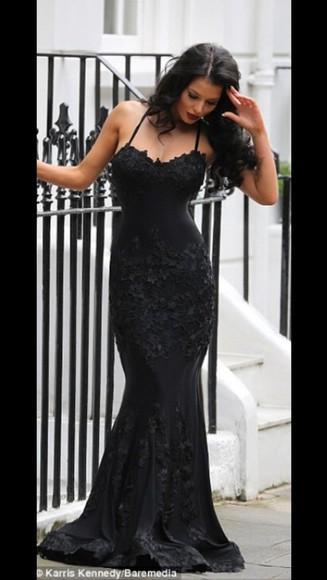 gown floor length dress dress black roses helen flanagan couture dress