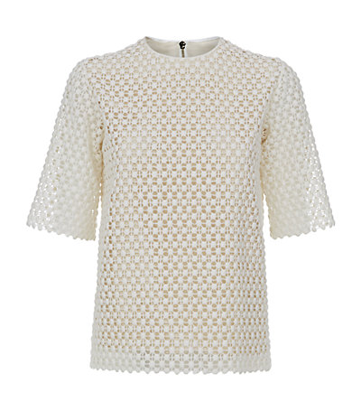 Chloé popcorn embroidered top