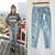 JP2 Lady's Street Fashion Splashed Oil Paint Destroyed Ripped Distressed Denim Harem Jeans Boyfriend Pants, Free Shipping on Aliexpress.com