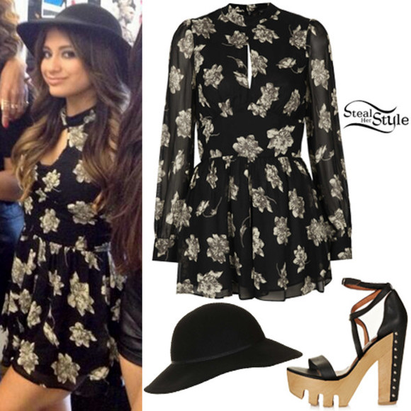 floral floral dress Ally Brooke Fifth Harmony