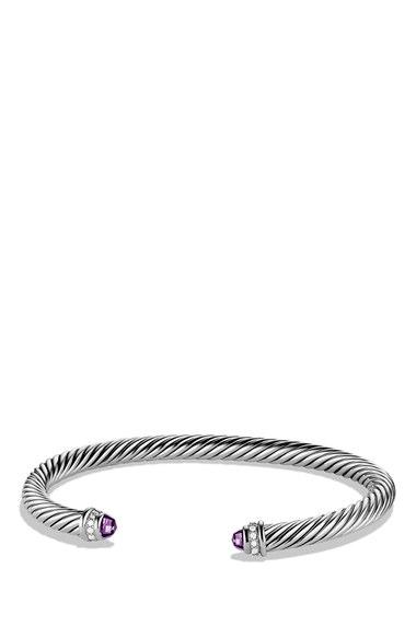 David Yurman 'Cable Classics' Bracelet with Semiprecious Stones & Diamonds | Nordstrom