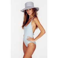 Wildfox Swim Logo Print Classic One Piece