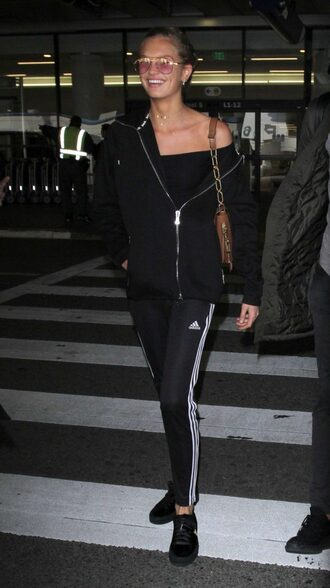 pants romee strijd sweatpants model off-duty streetstyle jacket