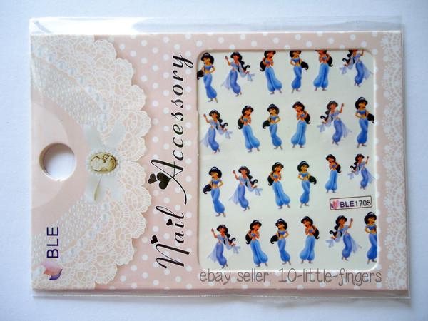 nail polish purple Jasmine cartoon disney princess decoration manicure pedicure aladdin diy nail accessories nail art diyer nails