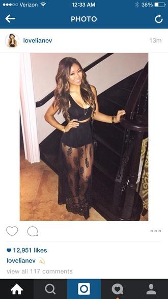 dress black dress black skirt lace dress lace skirt boho dress summer dress elegant dress
