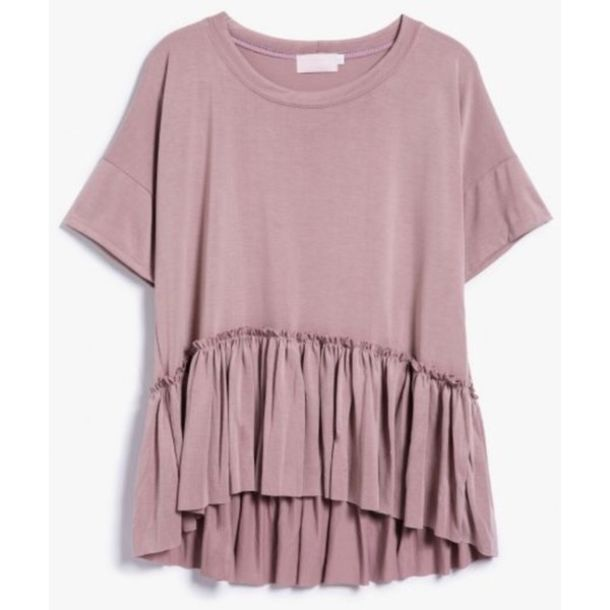 Top: clothes, dusty pink, blouse, tiered shirt, bohemian shirt ...