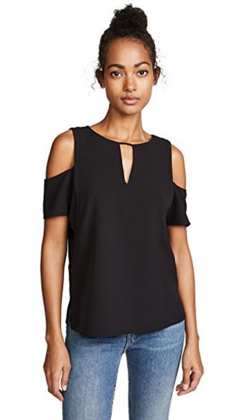 Cooper & Ella blouse short cold black top
