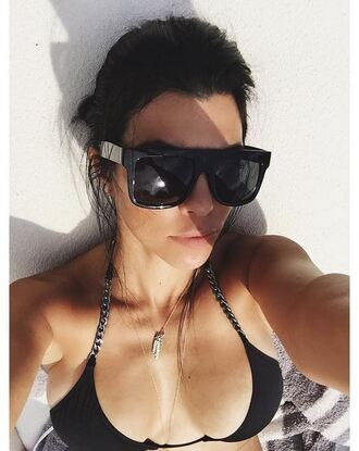 jewels sunglasses swimwear instagram necklace kourtney kardashian