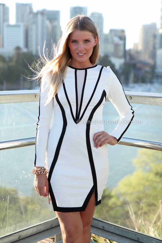 THE SCHEMING SOCIALITE DRESS , DRESSES, TOPS, BOTTOMS, JACKETS & JUMPERS, ACCESSORIES, 50% OFF SALE, PRE ORDER, NEW ARRIVALS, PLAYSUIT, COLOUR, GIFT VOUCHER,,White,LACE,CUT OUT,BODYCON,LONG SLEEVES,MINI Australia, Queensland, Brisbane