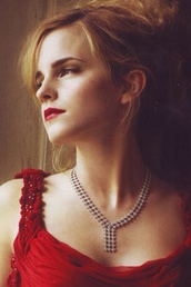 ema watson i s wearing really nice red dress who wont like to have it