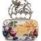 Flying-unicorn sequin-embellished knuckle clutch