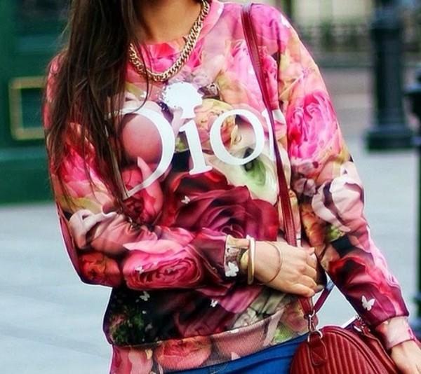 sweater dior floral sweatshirt