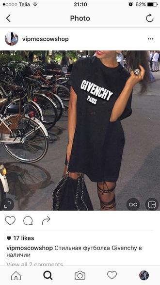 dress black givenchy black dress logo luxury