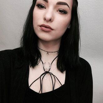 jewels shop dixi bolo necklace choker necklace grunge goth witchy