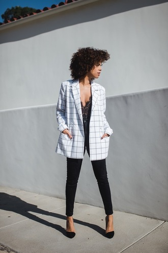 style me grasie blogger jacket jeans shoes blazer black jeans pumps