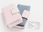 bag,pink,white,wallet
