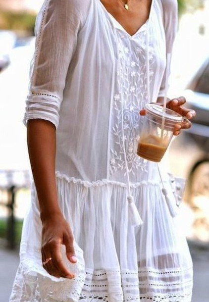 dress lawn cotton white dress summer dress