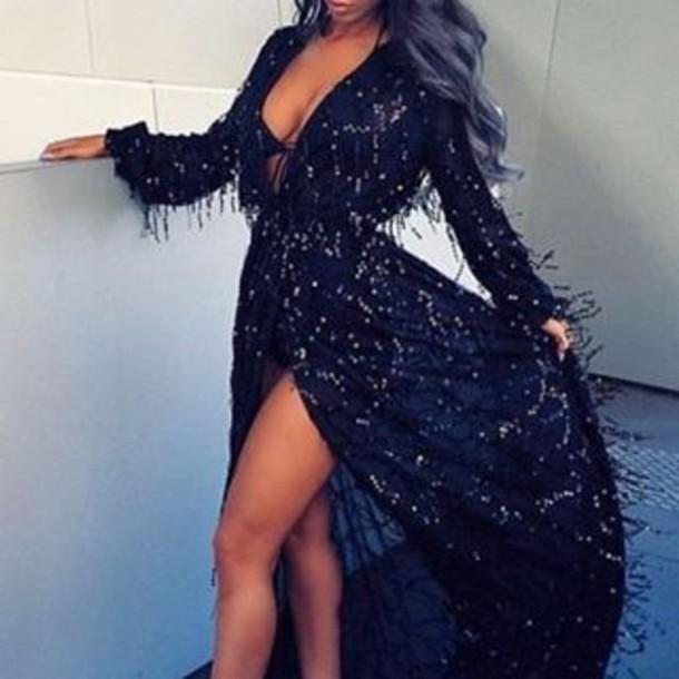 8a40fd1ad43 dress lost souls black dress black maxi dress black maxi dress long sleeve sequin  dress sequin
